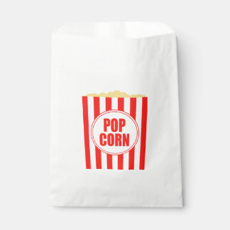 Diseño temático de las palomitas de la película bolsa de papel