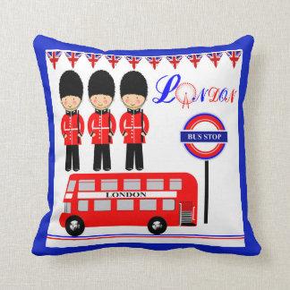 Diseño temático de Londres del Queens del autobús Cojín