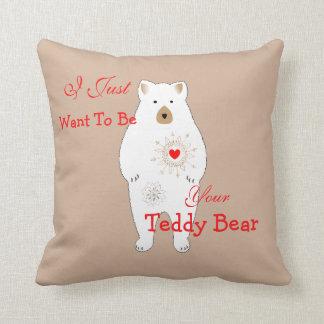 Diseño temático romántico lindo del oso de peluche cojin