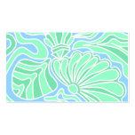 Diseño temático subacuático decorativo tarjeta de visita
