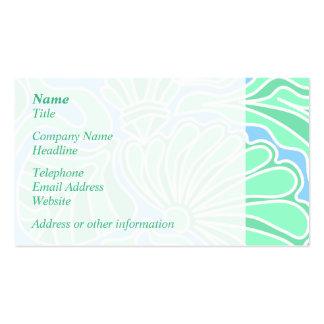 Diseño temático subacuático decorativo tarjetas de visita