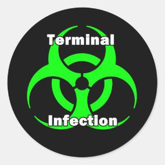 Diseño terminal del pegatina de la infección