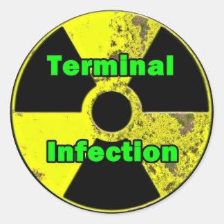 Diseño terminal del pegatina de la radiación de la