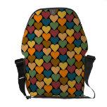 Diseño Tessellated del modelo del corazón Bolsas Messenger