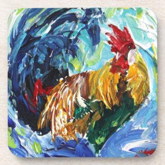 Diseño texturizado colorido de Ken el gallo