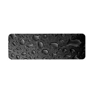 Diseño texturizado de las gotitas de agua del etiquetas de remite