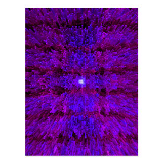 Diseño texturizado moderno púrpura del modelo postales