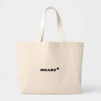 Diseño tipográfico conceptual de Smarted Bolsa De Tela Grande