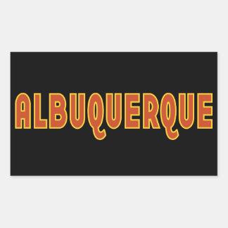 Diseño tipográfico de Albuquerque New México Pegatina Rectangular