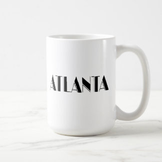 Diseño tipográfico de Atlanta Georgia Taza Clásica