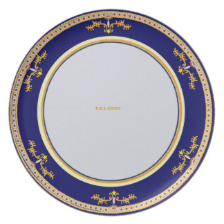 Diseño titánico de la placa del VIP Plato De Comida