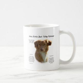 Diseño tocante de la historia del perro perdiguero taza