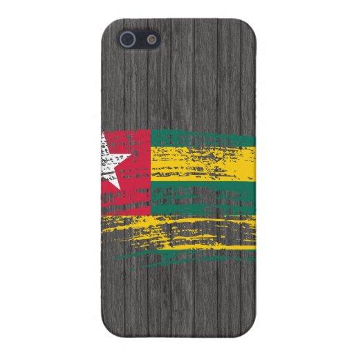 Diseño togolés fresco de la bandera iPhone 5 carcasas