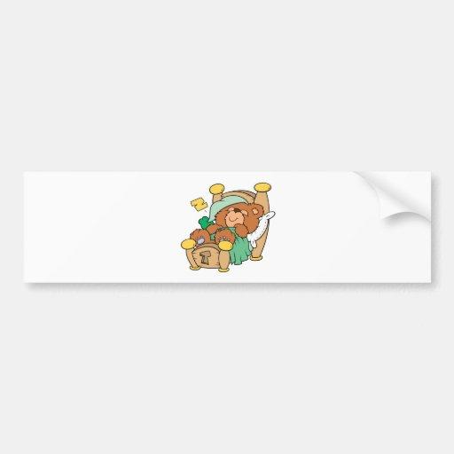 diseño tonto del oso de peluche el dormir pegatina de parachoque