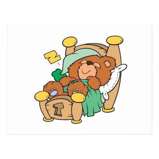 diseño tonto del oso de peluche el dormir postal