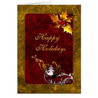 Diseño tradicional del navidad tarjeta de felicitación