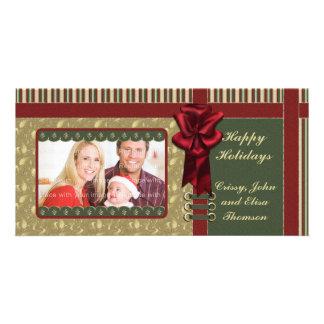 Diseño tradicional del navidad tarjeta personal