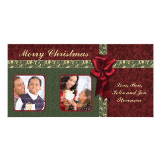 Diseño tradicional del navidad tarjetas fotográficas