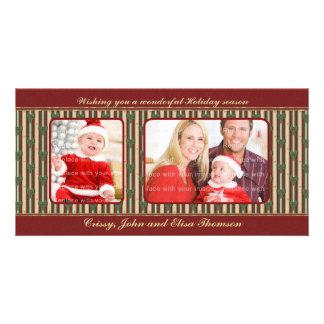 Diseño tradicional del navidad tarjetas personales