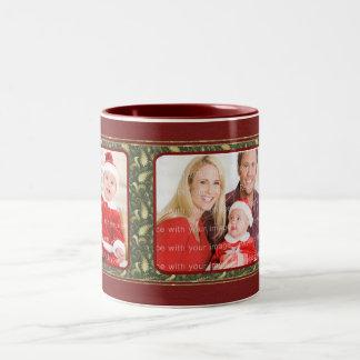 Diseño tradicional elegante del navidad taza de café
