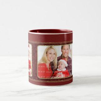 Diseño tradicional elegante del navidad taza de dos tonos