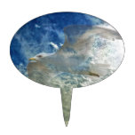 Diseño transparente del arte moderno de la gaviota figuras para tartas