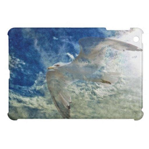 Diseño transparente del arte moderno de la gaviota iPad mini carcasa