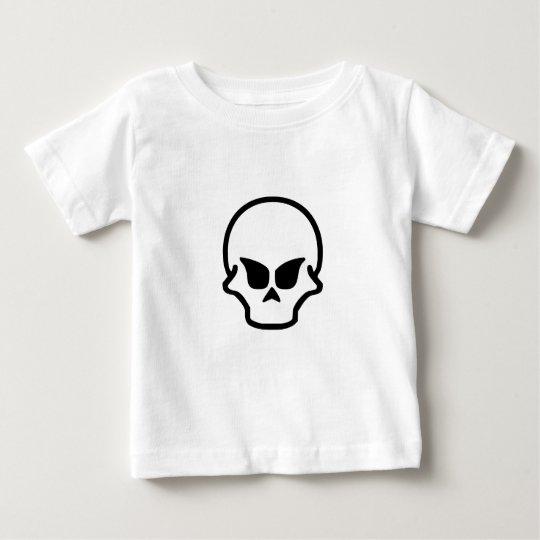Diseño trece del cráneo playera de bebé