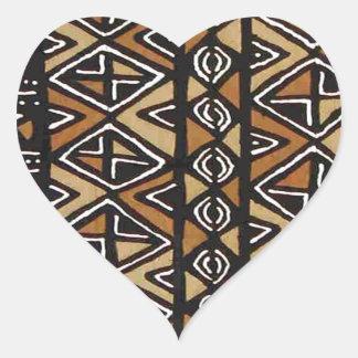 Diseño tribal africano calcomanías de corazones