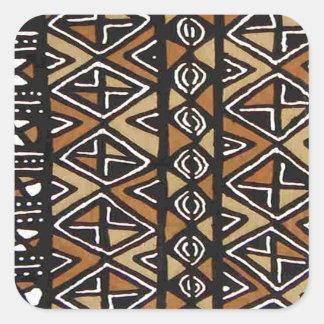 Diseño tribal africano calcomania cuadradas