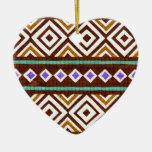 Diseño tribal colorido exótico ornamentos de reyes