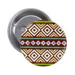 Diseño tribal colorido exótico pins