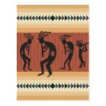 Diseño tribal de Kokopelli Tarjetas Postales