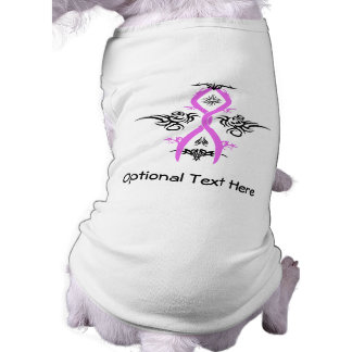 Diseño tribal de la conciencia del cáncer de pecho playera sin mangas para perro