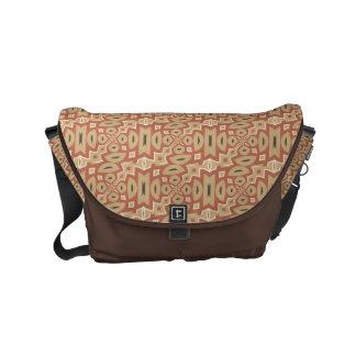 Diseño tribal de la especia de la calabaza de bolsa messenger