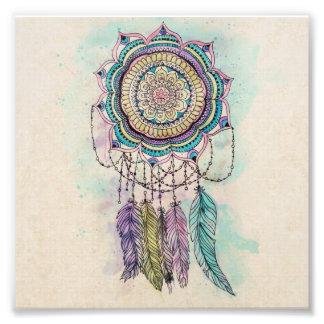 diseño tribal de la mandala del dreamcatcher de la fotografía