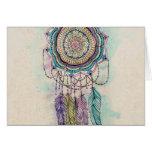 diseño tribal de la mandala del dreamcatcher de la tarjeta pequeña