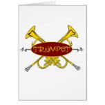 Diseño tribal de la trompeta tarjetas