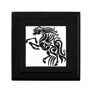 Diseño tribal del caballo cajas de regalo