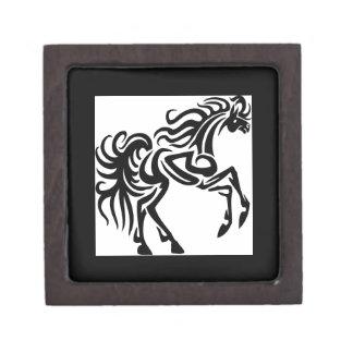 Diseño tribal del caballo del tatuaje caja de recuerdo de calidad