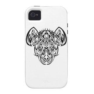 Diseño tribal del Hyena de Nire iPhone 4 Carcasa