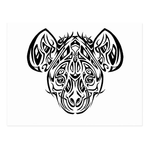 Diseño tribal del Hyena de Nire Tarjeta Postal