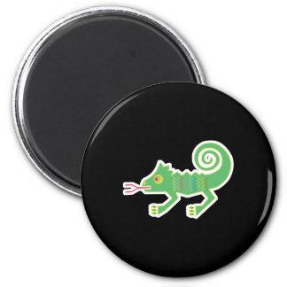 diseño tribal del lagarto imán redondo 5 cm