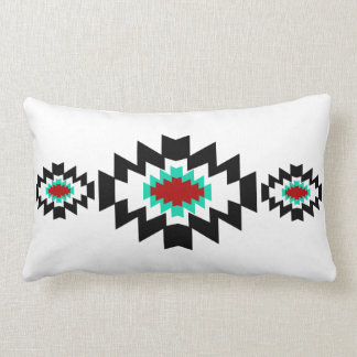 Diseño tribal del nativo americano azteca del cojín lumbar