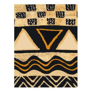 Diseño tribal del nativo americano del sudoeste tarjeta postal