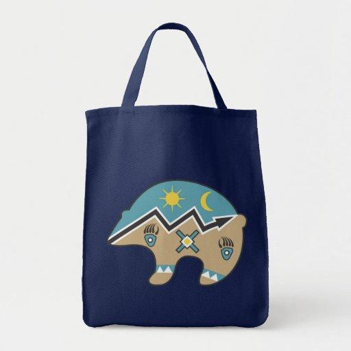 Diseño tribal del oso bolsas de mano