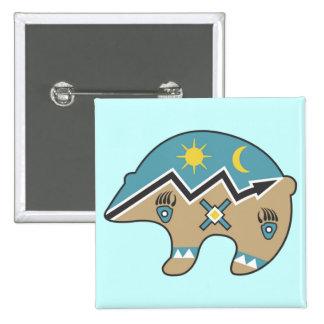 Diseño tribal del oso pin