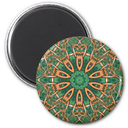Diseño tribal del otomano tradicional maravilloso imán redondo 5 cm