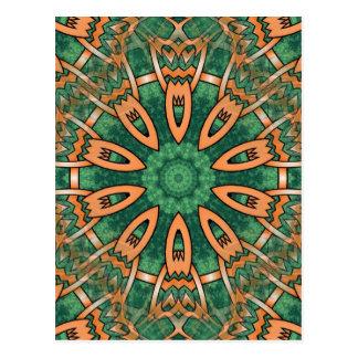 Diseño tribal del otomano tradicional maravilloso postales