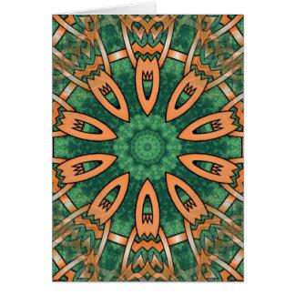 Diseño tribal del otomano tradicional maravilloso tarjeta de felicitación